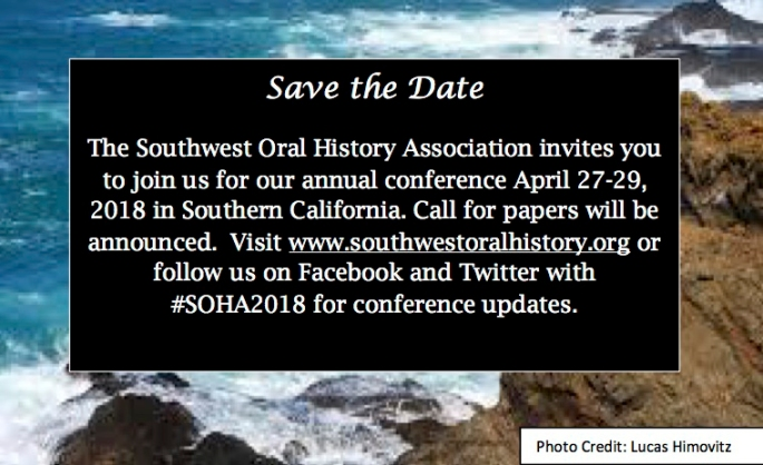 2018SOHA Save the Date